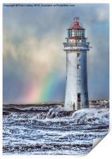 The Lighthouse and Rainbow, Print