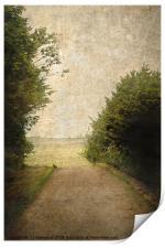 A Walk Up The Lane, Print