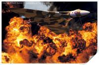 Avro Vulcan Bomber B2 (XH558) Bombing Run, Print