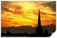 Norwich fiery sky, Print