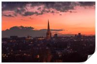 Norwich City At Night, Print