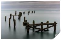 Swanage old pier, Print