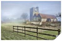 Wouldham Church In The Fog, Print