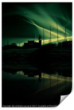 northern lights, Print