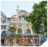 Casa Batllo Building in Barcelona, Print