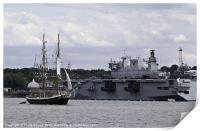 Tall Ship & HMS Ocean, Print