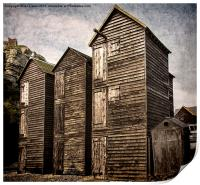 Fishermens Huts at Hastings, Print