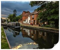 Reflections At West Mills Newbury, Print