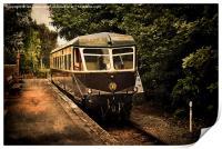 Great Western Diesel Railcar, Print