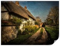 Cottages in Blewbury, Print