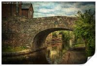 Canal Bridge In Brecon, Print