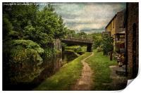 Canalside Cottages at Talybont, Print