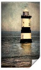 Penmon Trwyn Du Lighthouse Anglesey, Print