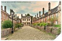 Vicars Close Wells , Print