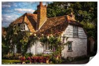 A Chiltern Cottage, Print