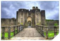 Caerphilly Castle Gatehouse, Print