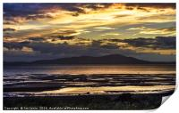 Evening Light Over The Solway Firth, Print