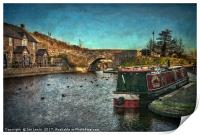 Brecon Canal Basin in Winter, Print