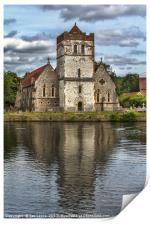 Bisham Church Reflected, Print
