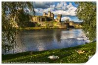 Late Afternoon At Caerphilly Castle, Print