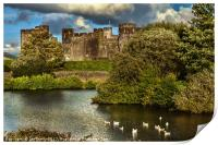 Caerphilly Castle Western Towers, Print