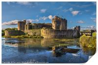 Caerphilly Castle South Facing Walls, Print
