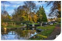 The Town Lock at Hungerford, Print