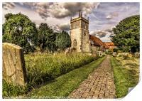 Bucklebury Parish Church Berkshire, Print