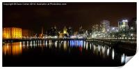 Liverpool Night Light, Print
