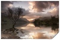 Sunrise over Llyn Padarn, Print