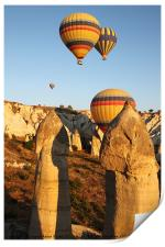 Ballooning Over The Valley Of Love, Print