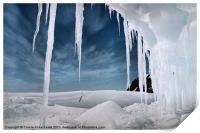 Ice Cave Cape Hallett Antarctica, Print