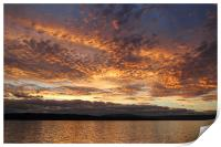 Sunset on the Beagle Channel, Print