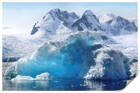 Iceberg in Cierva Cove, Antarctica, Print