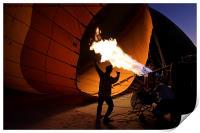 Preparing a Hot Air Balloon, Print