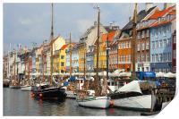 Nyhavn Copenhagen Denmark, Print