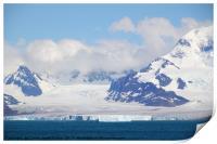 Glacier and Mountains, Print
