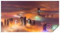 Misty City, Print