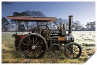 """Traction Engine """" Olden Days"""", Print"""