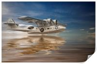PBY Catalina, Low pass, Print