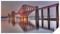 Forth Rail Bridge at sunset, Print