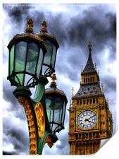 Big Ben And Lamp, Print