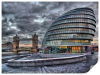 City Hall and Tower Bridge, Print
