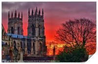 York Minster Sunset, Print