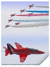 The Red Arrows - Farnborough 2012, Print