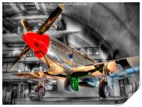 North American P-51D Mustang - Hendon, Print