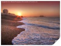 Brighton Seafront Sunrise 2, Print