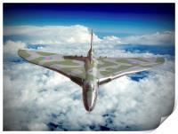 Vulcan XH558 In The Sky !!, Print