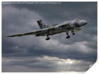 Vulcan on Final Approach, Print