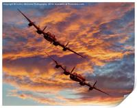 Out Of The Sunset - The 2 Lancasters 1, Print